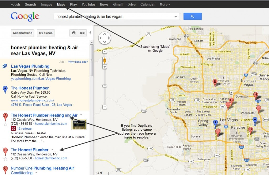 Google Maps Duplicate Listings