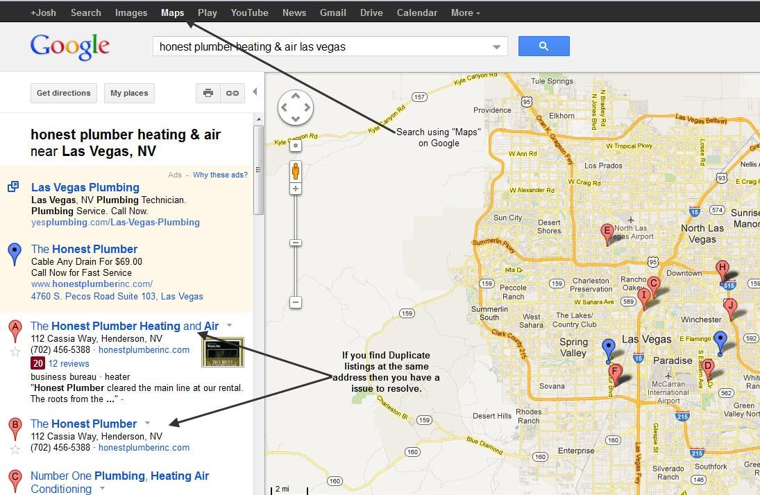 Google Maps Duplicate Listings - HVAC SEO & Internet Marketing for ...